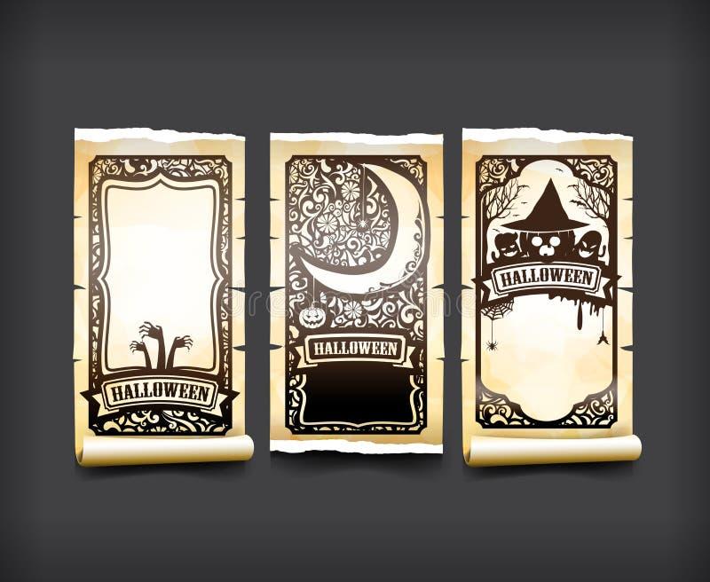 Le style de classique et de vintage de carte de Halloween conçoivent le vecteur i d'élément illustration de vecteur