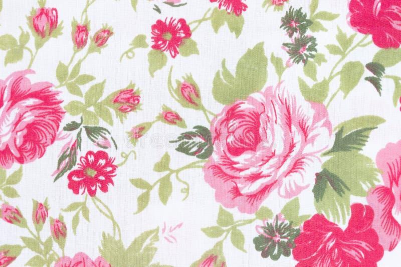 Le style de vintage de la tapisserie fleurit le fond de modèle de tissu photographie stock libre de droits