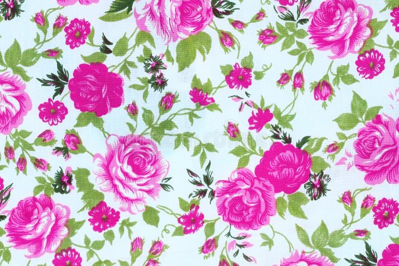 Le style de vintage de la tapisserie fleurit le fond de modèle de tissu photo stock