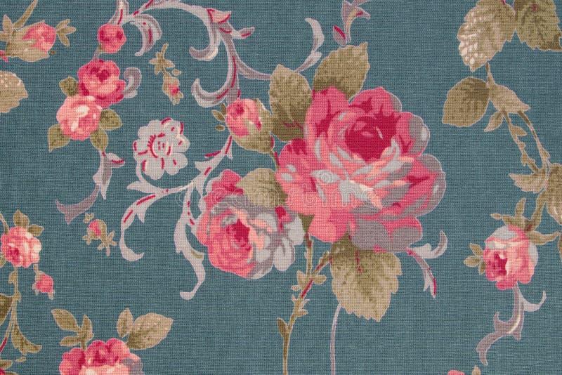 Le style de vintage de la tapisserie fleurit le fond de modèle de tissu photographie stock