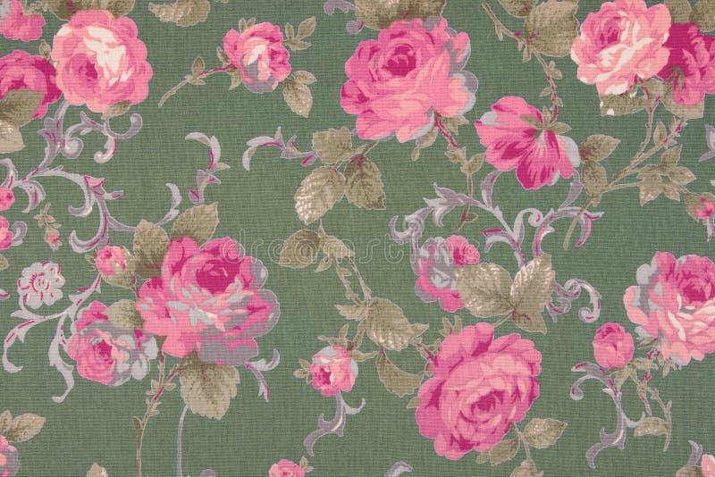 Le style de vintage de la tapisserie fleurit le fond de modèle de tissu image stock