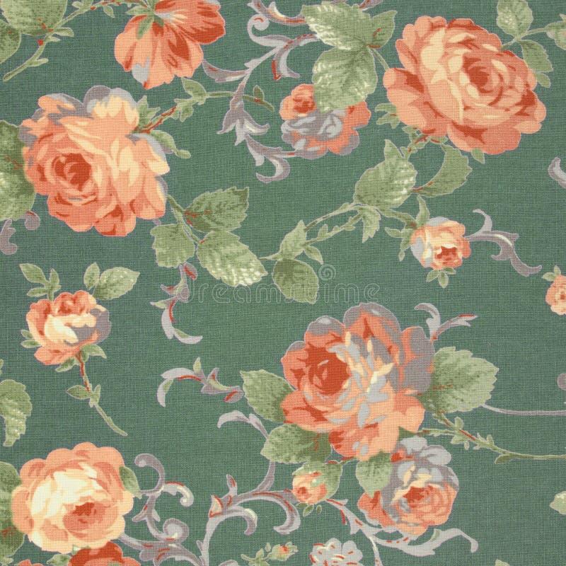 Le style de vintage de la tapisserie fleurit le fond de modèle de tissu images libres de droits