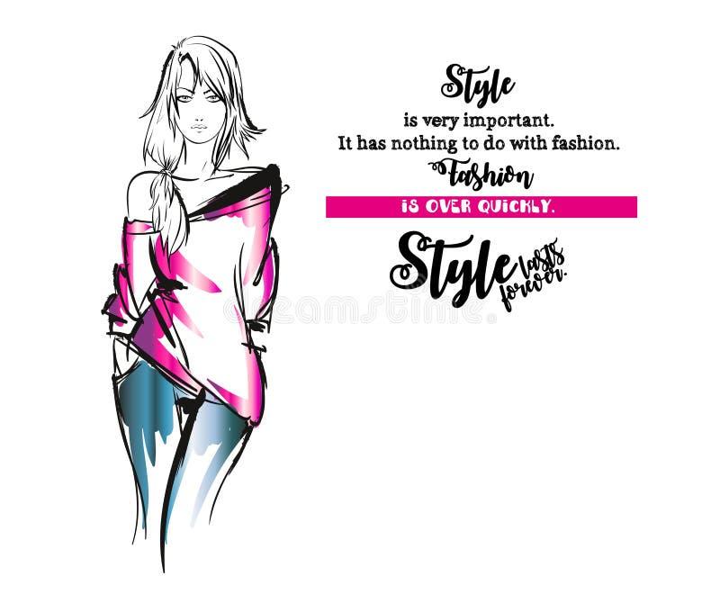 Le style est très important La mode est terminée rapidement illustration libre de droits