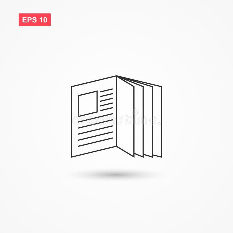 Le style ouvert d'ensemble d'icône de vecteur de magazine a isolé 1 illustration de vecteur