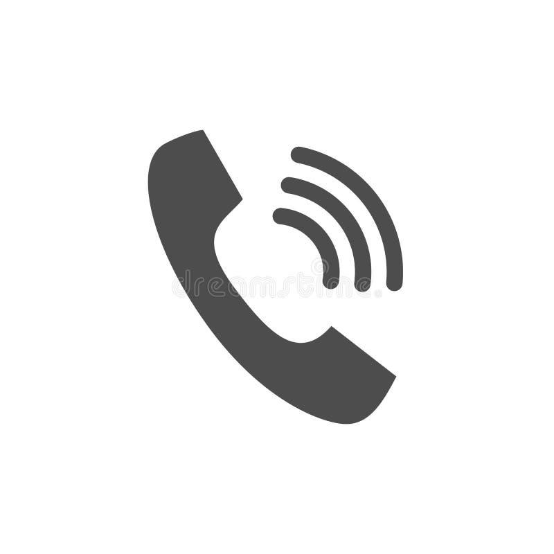 Le style plat de sonnerie de symbole d'icône de vecteur de téléphone de combiné de téléphone conçoivent pour le logo, UI illustration stock
