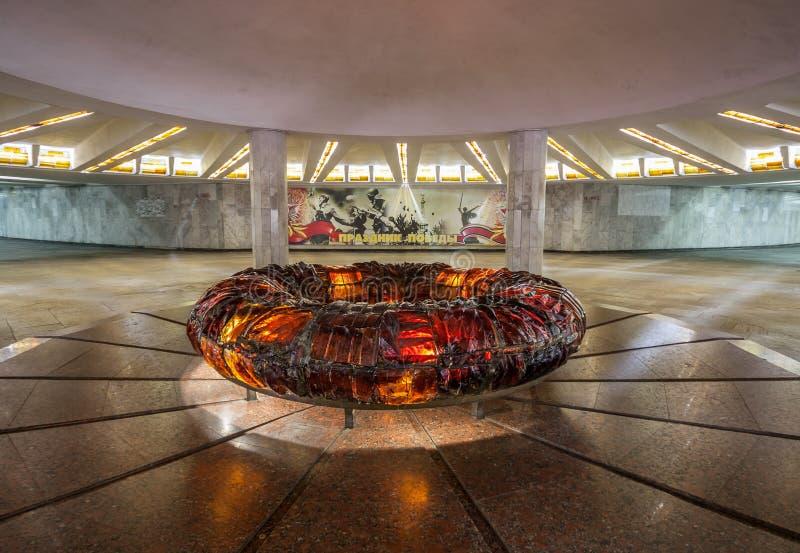 Le style soviétique Minsk, Belarus images libres de droits