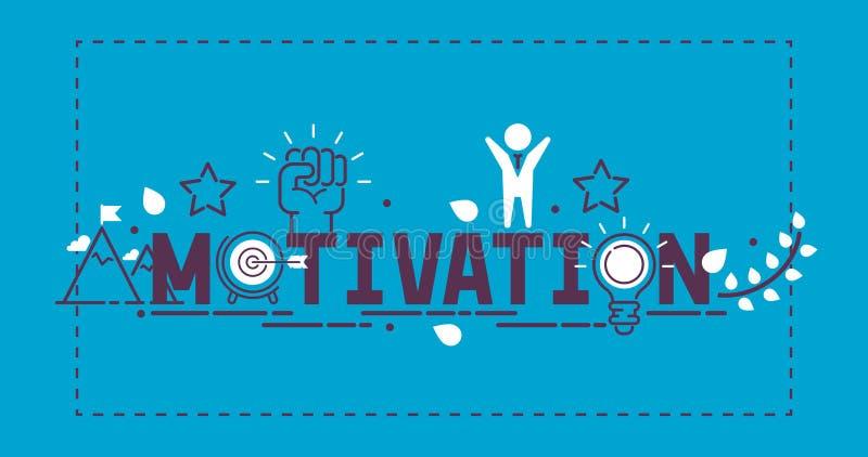 Le succès de motivation motivent l'illustration de vecteur de concept Puissance forte d'inspiration créative d'idée Détermination illustration de vecteur