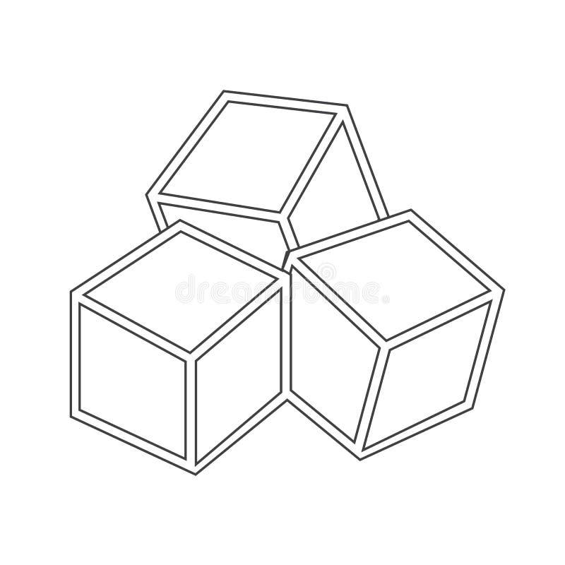 Le sucre cube l'icône illustration libre de droits