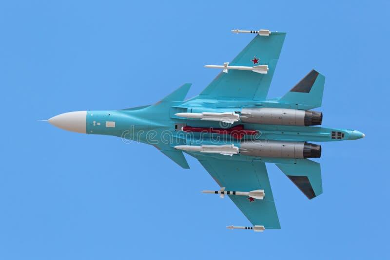 Le Sukhoi Su-34 (arrière) photographie stock libre de droits