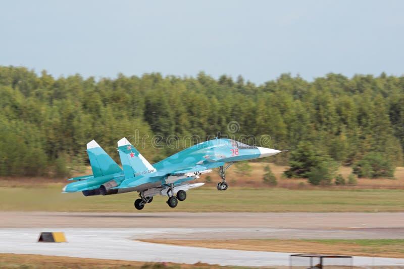 Le Sukhoi Su-34 (arrière) photo stock