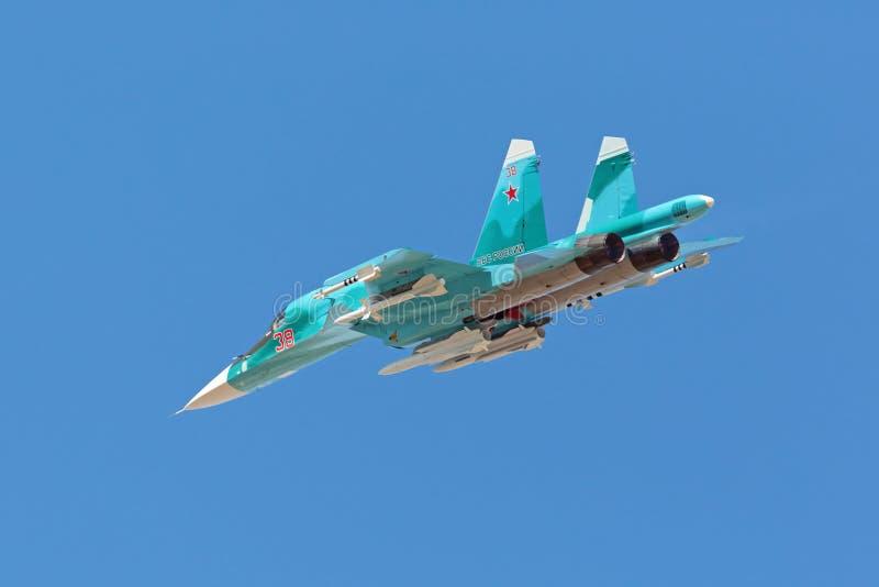 Le Sukhoi Su-34 (arrière) photographie stock