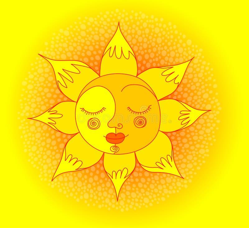 Download Le sun vektor illustrationer. Illustration av glöda, bild - 19792262