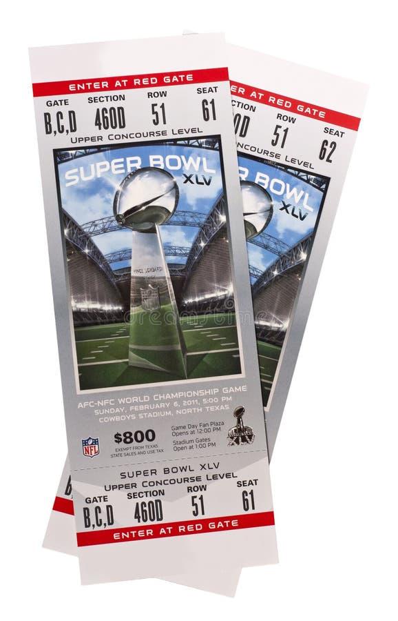 Le superbowl XLV étiquette le football américain de NFL photo stock