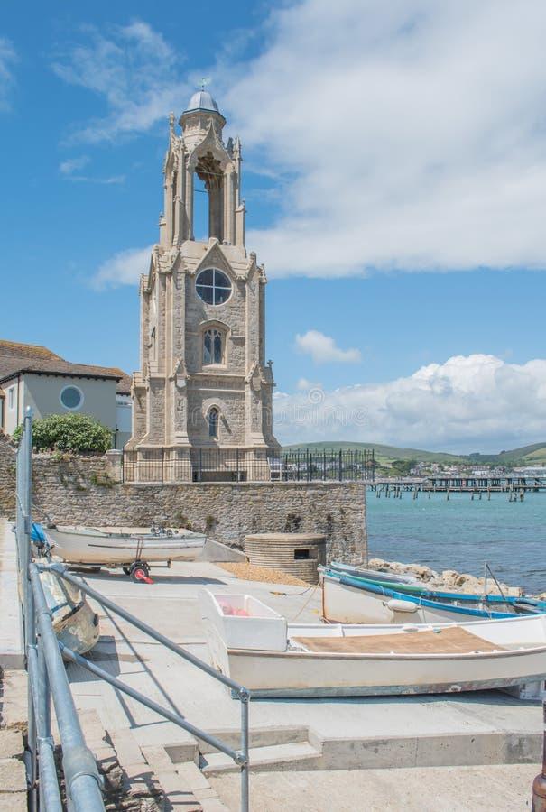 Le Swanage Wellington Watchtower image stock