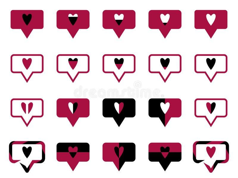 Le symbole aime rouge illustration libre de droits