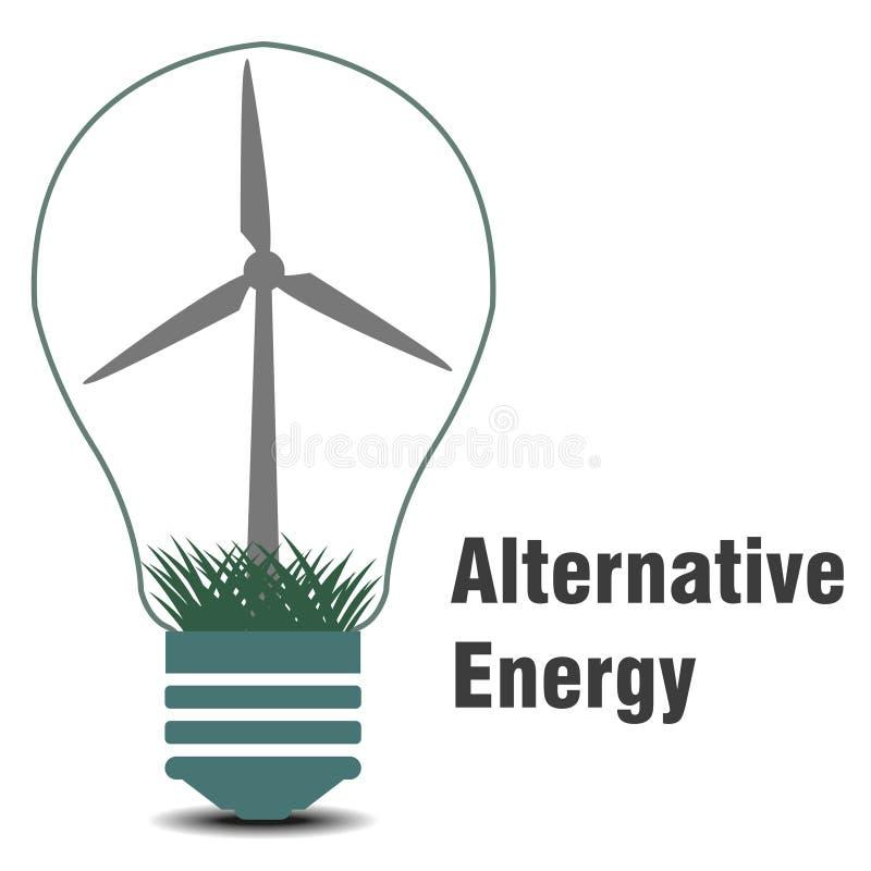 Le symbole de l'énergie de substitution  images stock