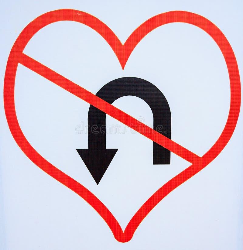 Le symbole de l'amour ne change pas ou ne retourne pas photographie stock