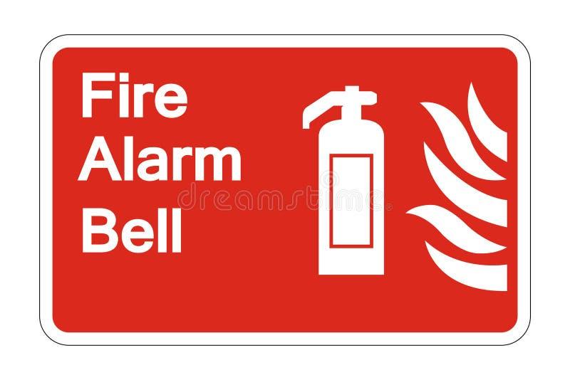 le symbole de sécurité de Bell d'alarme d'incendie de symbole se connectent le fond blanc, illustration de vecteur illustration stock