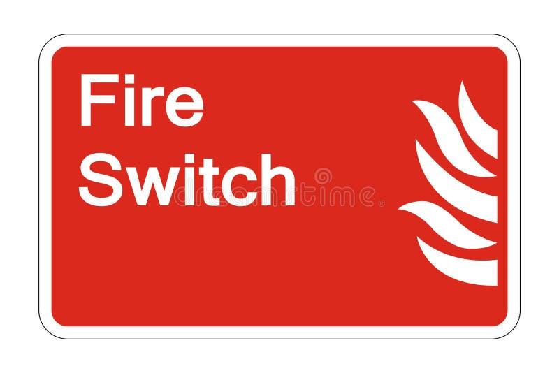 le symbole de sécurité de commutateur du feu de symbole se connectent le fond blanc, illustration de vecteur illustration de vecteur