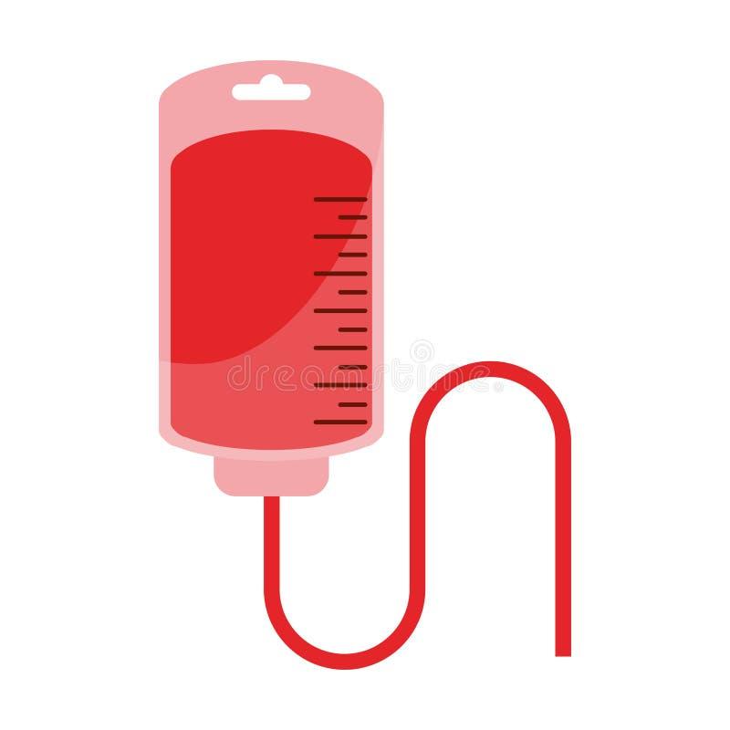 Le symbole de sac de sang a isolé illustration stock