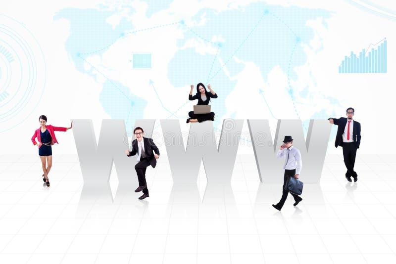Personnes d'Internet d'affaires illustration de vecteur