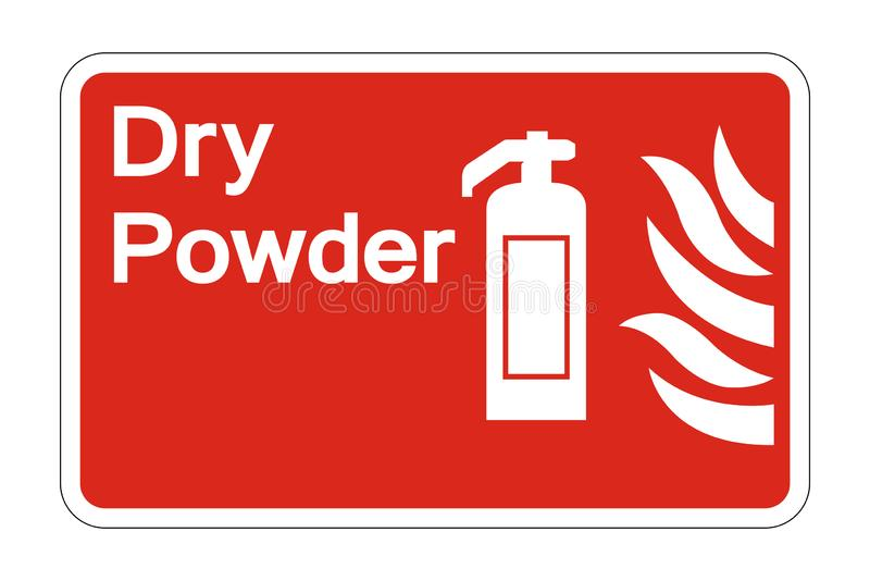 le symbole sec de sécurité de poudre du feu de symbole se connectent le fond blanc, illustration de vecteur illustration de vecteur