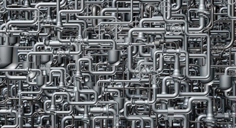 Le système abstrait de la canalisation images stock