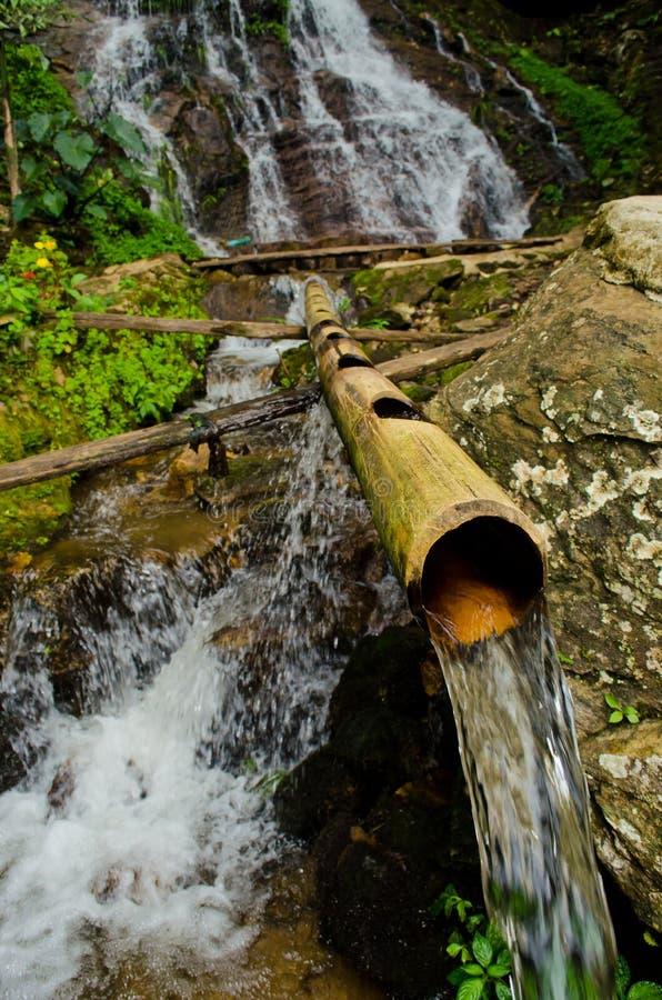 Le système d'approvisionnement en eau de tribus de côte dans Chiangmai, T photos libres de droits