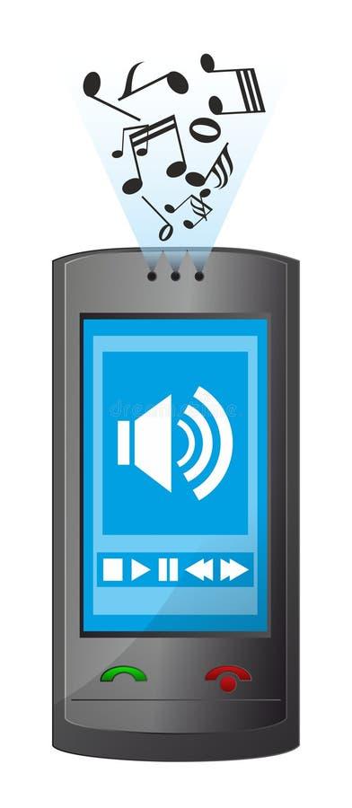 Le téléphone joue la mélodie illustration de vecteur