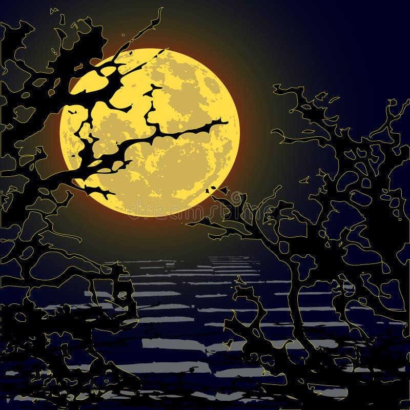 Le ` t de Don vont marcher dans les bois - horreur - Halloween illustration de vecteur
