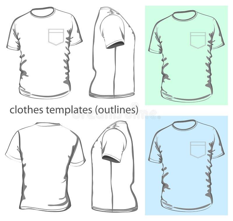 Le T-shirt des hommes avec la poche illustration libre de droits