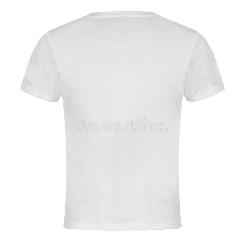 Le T-shirt vide blanc de retour a isolé photo stock