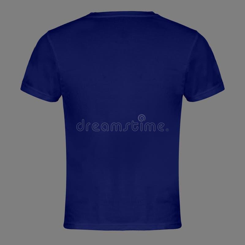 Le T-shirt vide bleu de retour a isolé photos stock