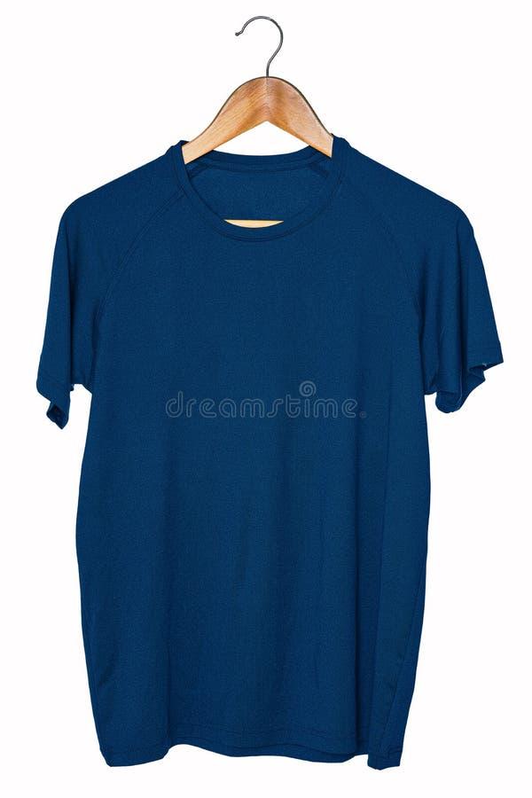 Le T-shirts vide de sport raille vers le haut d'accrocher d'isolement sur la vue blanche de dos de fond, avant et Préparez pour r images libres de droits