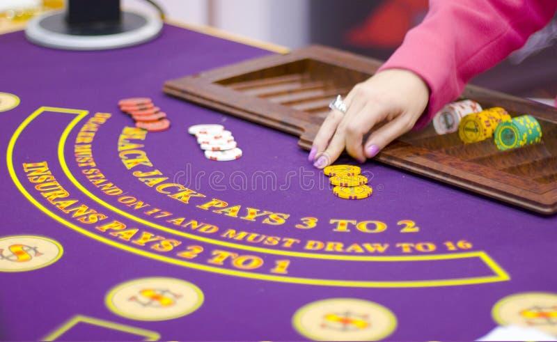 Le Tableau avec ébrèche dedans le casino photos libres de droits