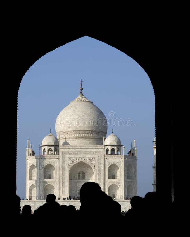 le Taj Mahal attend image stock
