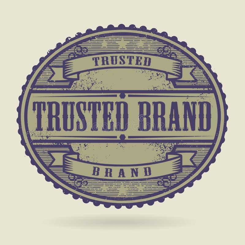Le tampon en caoutchouc de vintage avec le texte a fait confiance à la marque illustration de vecteur