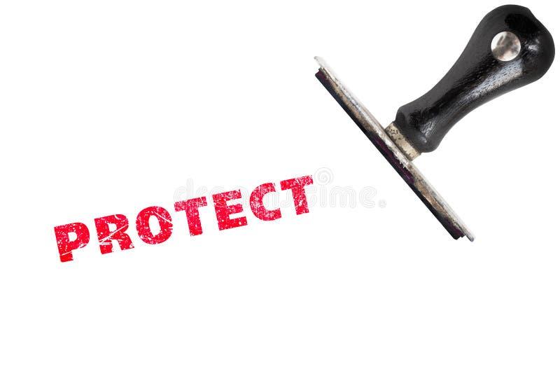 Le tampon en caoutchouc grunge avec le texte se protègent photo libre de droits