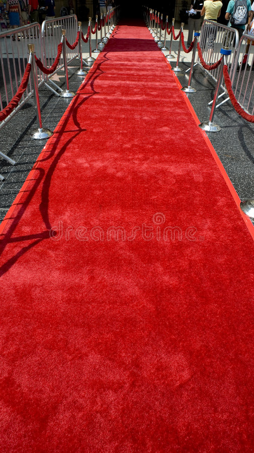 Le tapis rouge image stock