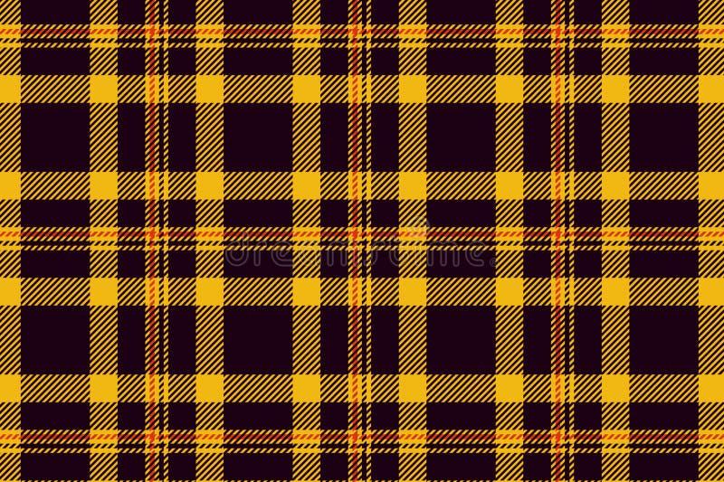 Le tartan de Halloween a payé modèle écossais dans l'orange, cage noire et jaune photographie stock libre de droits