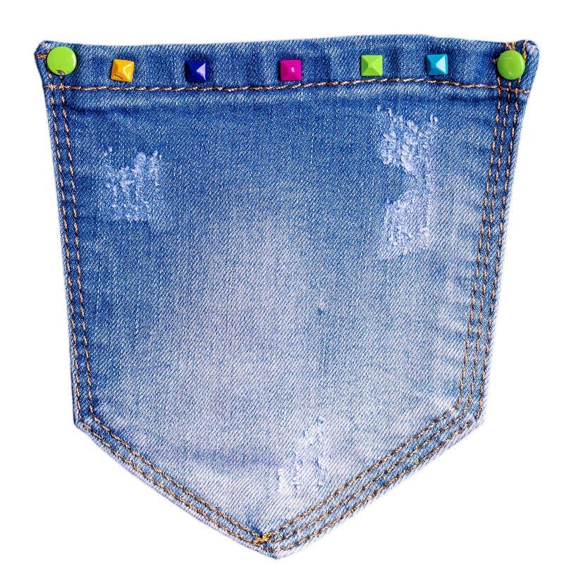 Le tasche dei jeans delle donne isolate fotografia stock libera da diritti