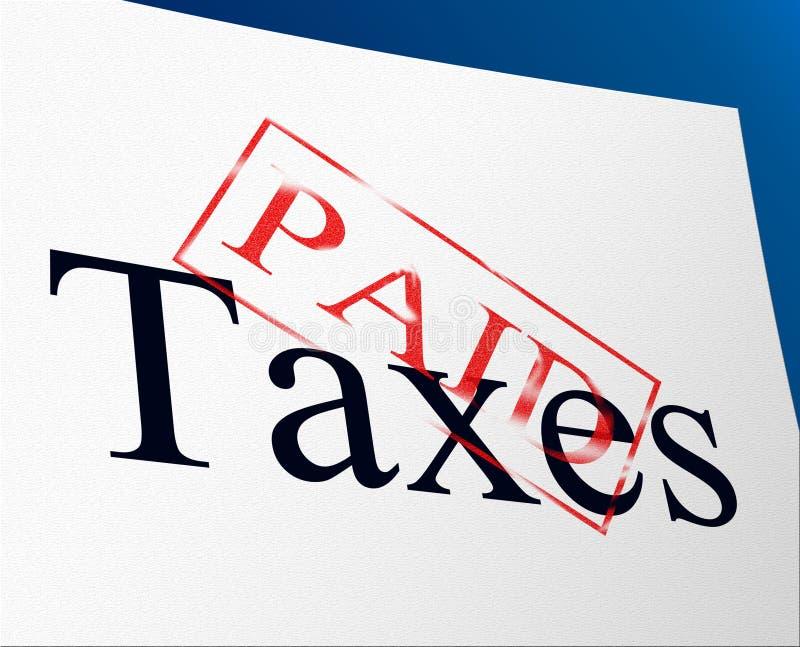 Le tasse pagate indica l'equilibrio e le funzioni di dovere illustrazione vettoriale