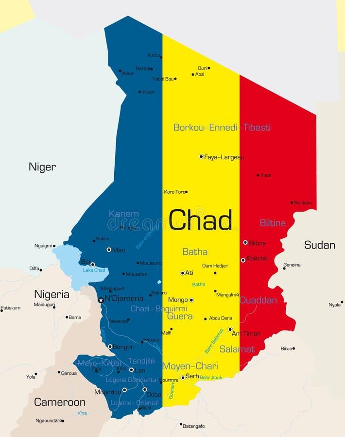 Le Tchad illustration libre de droits