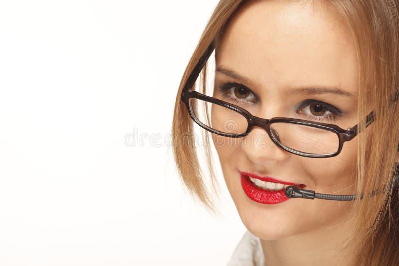 le telefonbarn för operatör royaltyfria foton