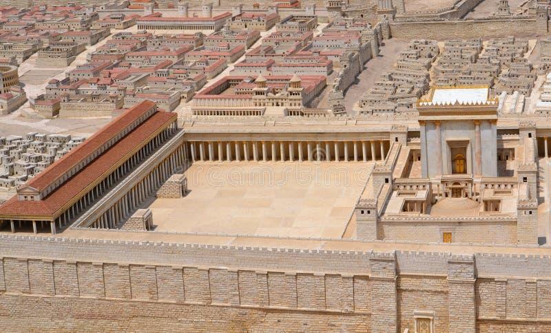 Le temple à Jérusalem ou temple saint images libres de droits