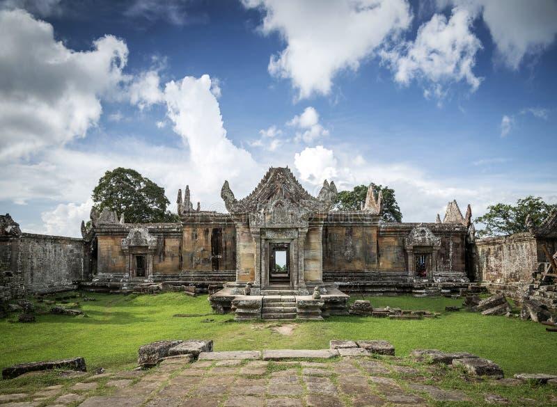 Le temple antique de Khmer de Preah Vihear ruine le point de repère au Cambodge photographie stock