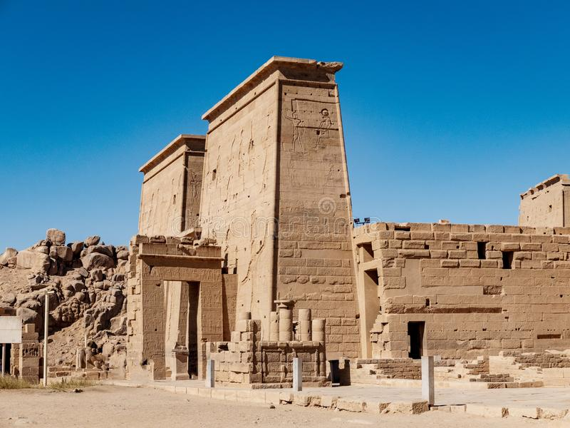 Le temple antique de l'Egypte de Philae photographie stock