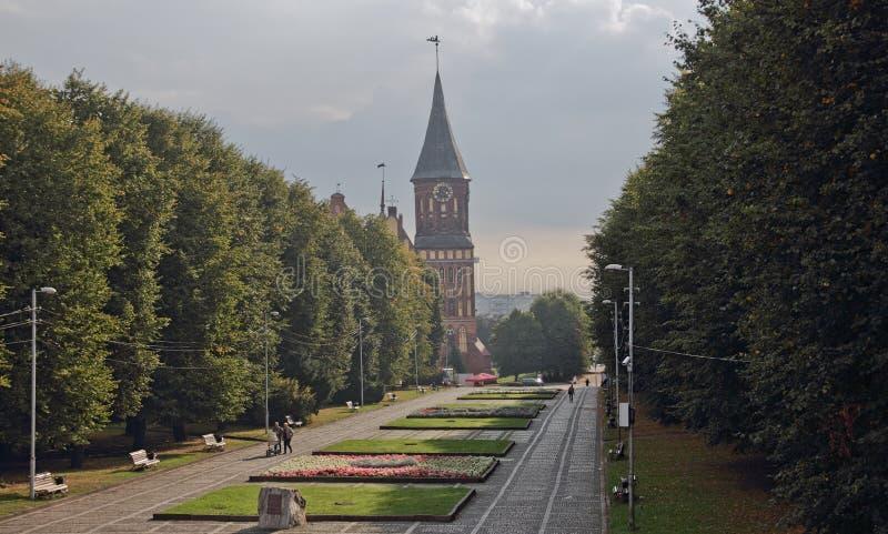 Le temple catholique de cathédrale à Kaliningrad (Russie) photo stock