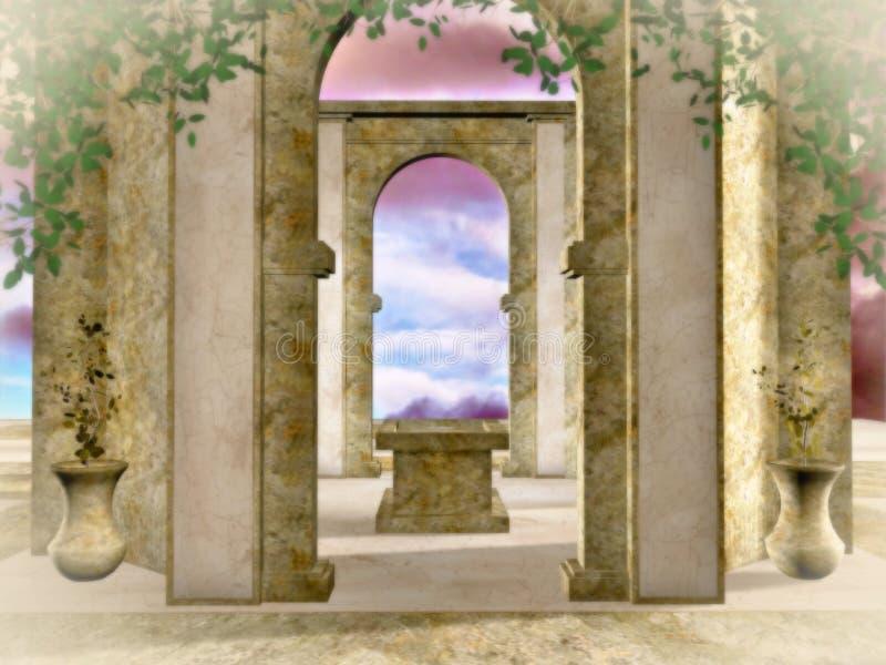 Le temple d'or illustration libre de droits
