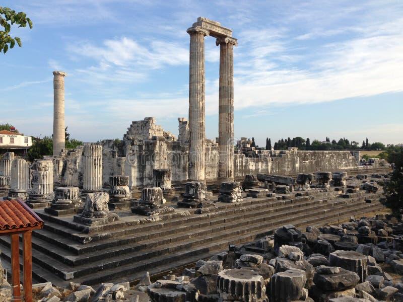 Le temple d'Apollo dans Didim (Turquie) photos libres de droits